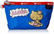 Lesportsac G648 Hello Kitty Aloha Hawaii MEDIUM SLOAN COSMETIC Makeup Bag Pouch