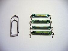 Reed Glass Magnetic Switch Green 20mm Rhodium Normal Open 22mm pitch 40pcs