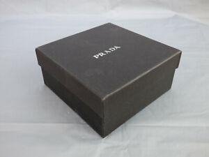 PRADA Small Black Empty Storage Box Designer Gift Box Square 13.5 cm x 13.5 cm