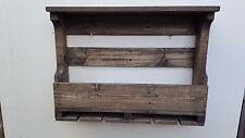 Wooden Wine and/or Liquor Rack (Repurposed Pallet Wood) with Wine Glass Holders