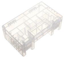 New Battery Holder Case Hard Plastic Storage Box Rack Transparent for AAA AA 9V