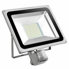2 White x HEAVY DUTY LED Floodlight PIR Sensor Motion 100W Security Cool