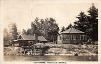 Canada Postcard Real Photo RPPC Ontario 1948 NOELVILLE Camp Thomas Dock Cottage2