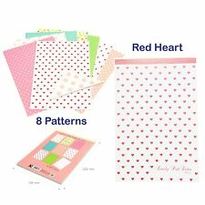 Red Heart-Cute Lovely Letter Pad writing stationary paper 8 Design Memopad