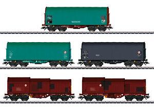 Märklin 46875  5 vierachsige Güterwagen SNCB Ep. VI. Neu in OVP