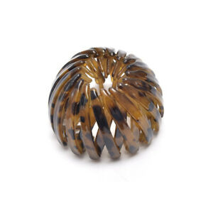 Women Bird's Nest Hairpin Plastic Resin Meatball Ponytail Buckle Plate Hair Clip