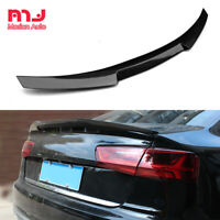 Real Carbon Fiber Rear Trunk Spoiler For Audi A6 S6 RS6 C6 Saloon 2008-2011