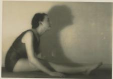 Vassil Ivanoff, Etude de femme  Vintage silver print. Cachet au verso d'Iva