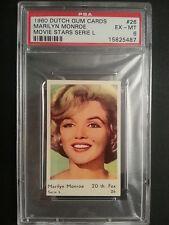 1960 Dutch Gum Cards Serie L #26 MARILYN MONROE Movie Stars PSA 6 Ex-Mt RARE!!