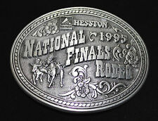Hesston National Finals Rodeo 1995 Belt Buckle Commemorative Series Pewter