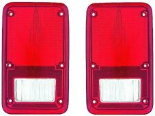 Fits 78 - 93 Dodge Van Taillight Lens Only Pair Set NEW Full Size Plymouth Rear
