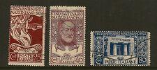 ITALY : 1922 50th Anniversary of Mazzini's Death  set  SG126-8 fine used