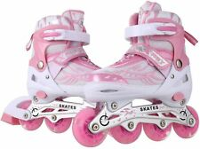 Cosway Inline Skate Shoes with Eight Illumination Wheels, Breathable Mesh, Alumi