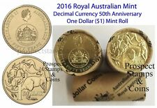 2016 One Dollar ($1) Decimal Currency 50th Anniversary Aust. Decimal Mint Roll