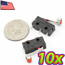 [10x] Micro Roller Limit Switch Momentary NO NC 250VAC 5A KW12-3