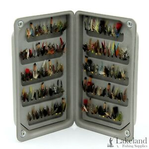 EVA Foam Fly Box + Mixed Assorted Wet Trout Fishing Flies Sizes 8 10 12 14 16 18