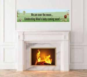 Nursery Rhyme - Baby Shower Printed Banner - Indoor Outdoor Nursery Rhyme Banner