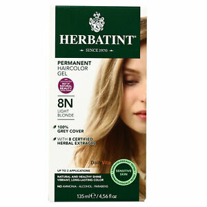 Herbatint Permanent  Hair Color , 8N Light Blonde, Clearance for damaged box