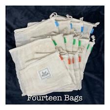 14 Pack!! - Organic Cotton Mesh Produce / Multi-Purpose Bags - GREAT Deal!