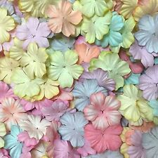 50 Mixed Pastel Heart Flowers Mulberry Paper for Craft & D.I.Y.