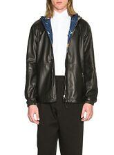 $4700 LOEWE JW Anderson galaxy print reversible anorak leather hooded jacket