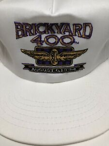 1994 BrickYard 400 Indianapolis Motor Speedway Baseball Hat - White - Large Size