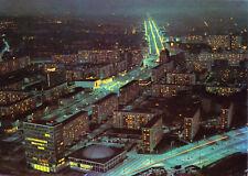 AK, Berlin Mitte, Blick vom Fernsehturm in die nächtliche Karl-Marx-Allee, 1969