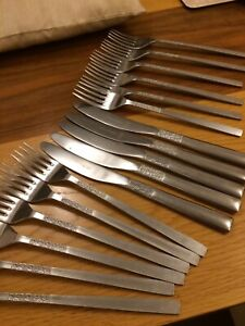 VINERS Love Story 23 Pieces Cutlery Stainless Steel. 1970s Retro