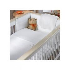 Izziwotnot Luxury Gift CotBed Baby Bedding Set WHITE 7piece quilt,sheets,bumper