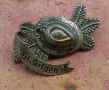 Vintage Oktoberfest Hiking German Bavarian Ski Hat Pin ST. GILGEN