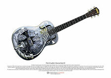 Mark Knopfler's National Style 0 resonator guitar ART POSTER A3 size