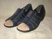 LADIES HOTTER SHOES LIMA BLACK  LEATHER SIZE 4