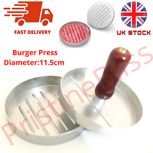 Non-Stick Burger Press patty maker Mould meat Ham beef grill BBQ kitchen UKSTOCK