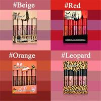 5 Pack Long Lasting Liquid Lipstick Velvet Matte Lip Gloss Makeup Waterproof
