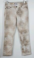 Jennifer Lopez Women's Jeans Straight Legged Size 10 Snake Skin Brown Tan