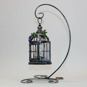 Grape Bird Cage Candle Holder w/Stand Crystal Expressions by Ganz