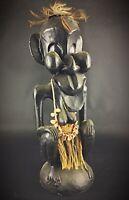 Ancienne Statue Africaine bois XXEME «Fétiche, comique, etc» Belle pièce H51cm