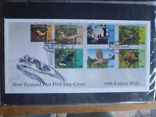 NEW ZEALAND 1996 EXTINCT BIRDS SET 6 STAMPS FDC FIRST DAY COVER
