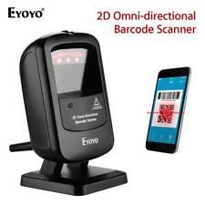 Eyoyo 1D 2D Desktop Barcode Scanner Omnidirectional Image Screen Bar Code Reader