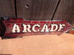 """Arcade This Way To Arrow Sign Directional Novelty Metal 17"""" x 5"""""""