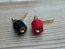 Set 2 genuine TANNOY correct 4mm speaker speakers sockets