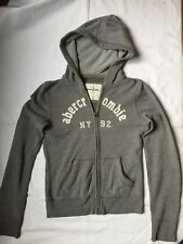 ABERCROMBIE KIDS GREY FULL ZIP HOODIE SIZE XL
