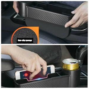 Car ABS Plastic Black Storage Box Mobile Phone Key Cup Pocket Organizer Holder