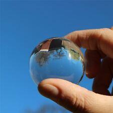 2x balles sphériques acryliques solides Perspex, 40mm transparent et translucide