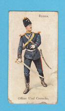 MILITARY - WILLS - RARE MILITARY CARD -  RUSSIA  -  URAL  COSSACKS  -  1895