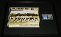 1963 Pitt Panthers vs Penn State Framed 16x20 Repro Ticket & Photo Set