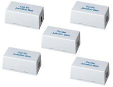 5 Pack x CAT5E CAT 5E Junction Box Type 110 & Punch Down Network Extender UL