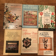 6 Vintage Indoor Gardening Books House Plants Violets Orchids Flower Arranging