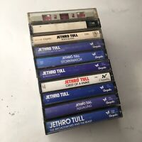 VINTAGE Jethro Tull Cassette Tapes, Lot of Main Albums + Best Of - Crysalis Rare