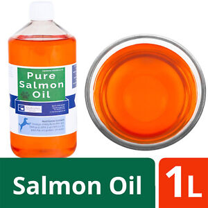 Salmon Oil for Dogs -  100% Pure from Ourons Premium Range - 1 Litre